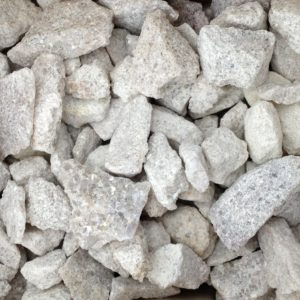 3 to 4 inch antique white crushed stone
