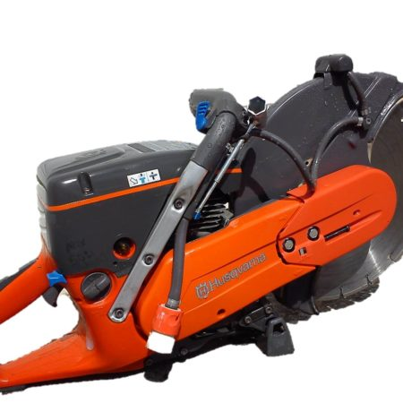orange husqvarna 14 in concrete saw
