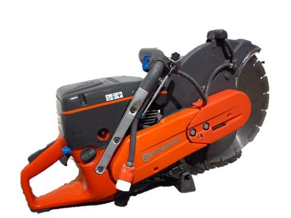 orange husqvarna 14 in concrete saw