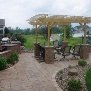 pergola stone patios