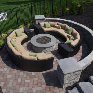 stone and fire pit landscaping in pa