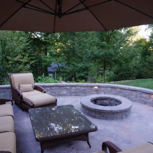 stone patio and fire pit contractors